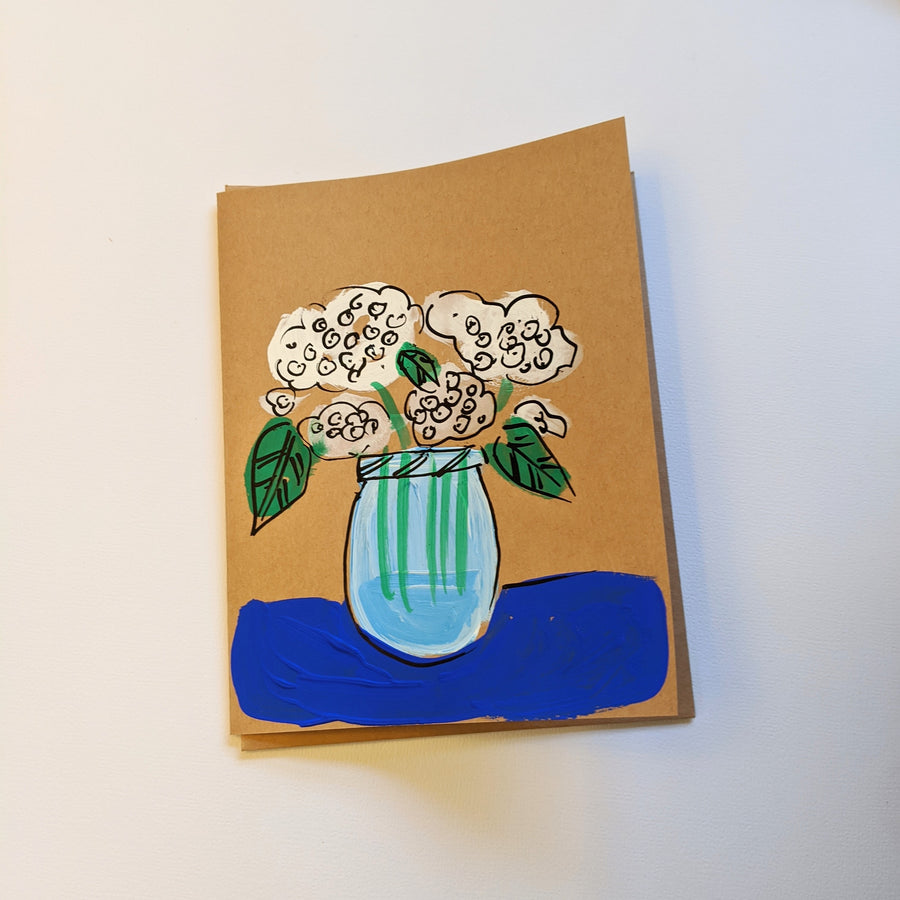 Hydrangeas in a Mason Jar Card
