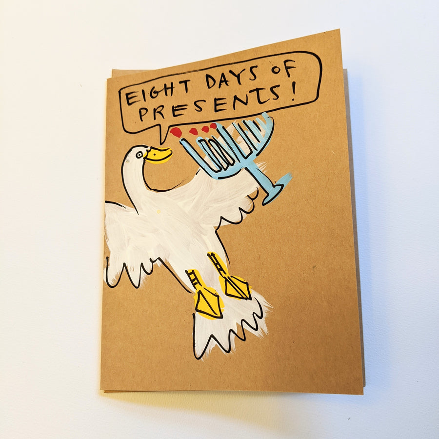 Eight Days of Presents! - Duck Chanukkah Card