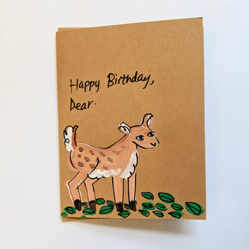 Happy Birthday Dear Deer Card