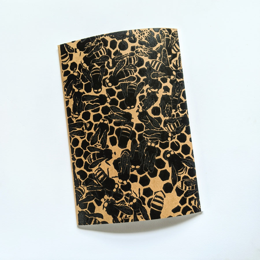 Silkscreened Sketchbook (Small) - Bee Colony
