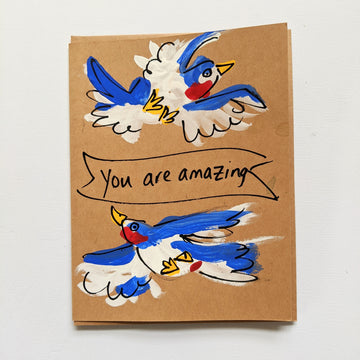 You are Amazing - Bluebird Banner Card