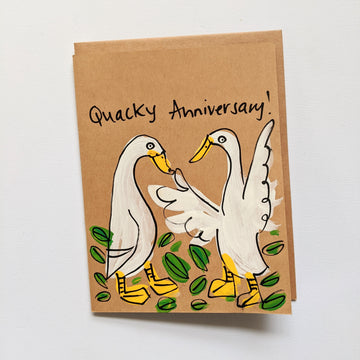 Quacky Anniversary - Indian Runner Duck Card