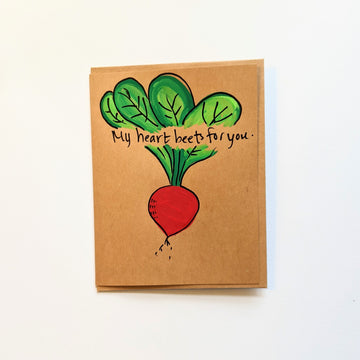 My heart beets for you Valentines card