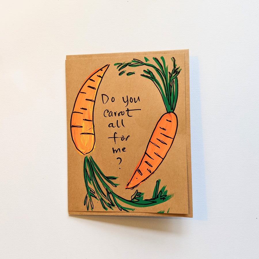 Do you carrot all for me? Card