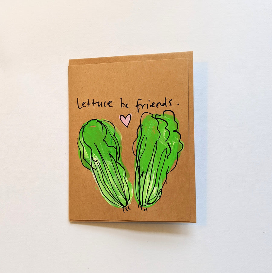 Lettuce be Friends Card