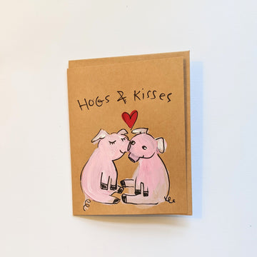 Hogs & Kisses - Pig Valentine