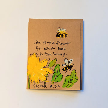 Life is the flower - Victor Hugo Quote Card