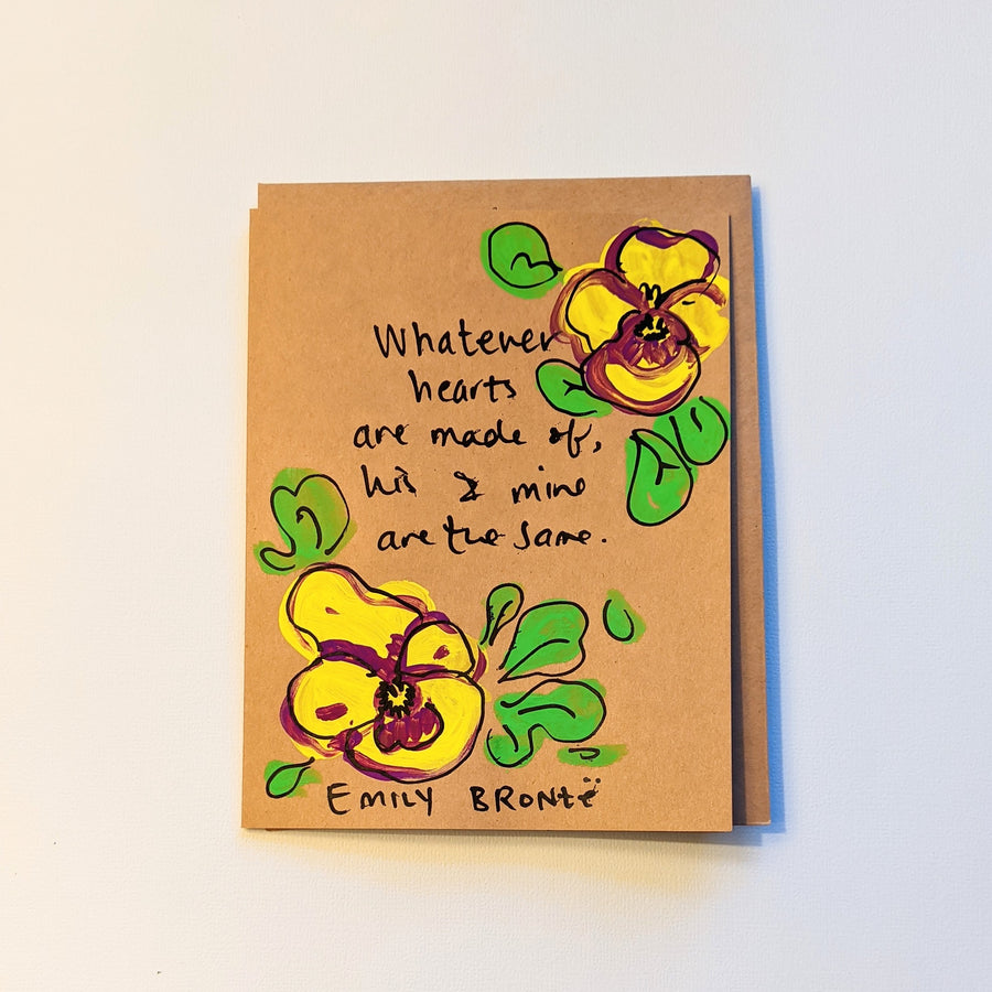 Whatever hearts are made of - Bronte Quote Card
