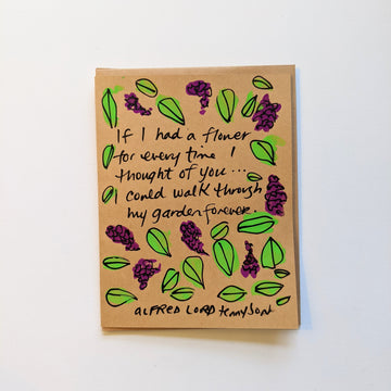 If I had a flower - tennyson quote card