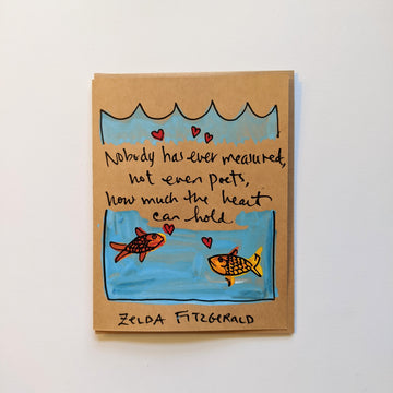 Nobody has ever measured - Zelda Fitzgerald quote card