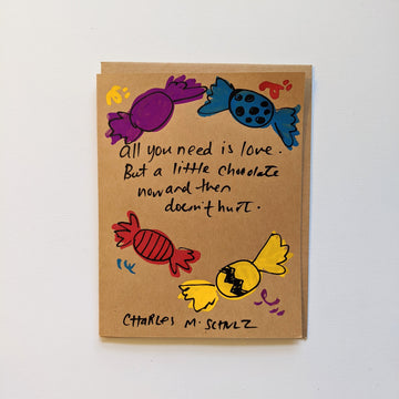 All you need is love - Schulz quote Card