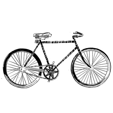 Vintage Bicycle (High Quality Print of Digital Illustration)