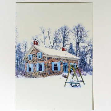 Farmhouse in Winter Postcard