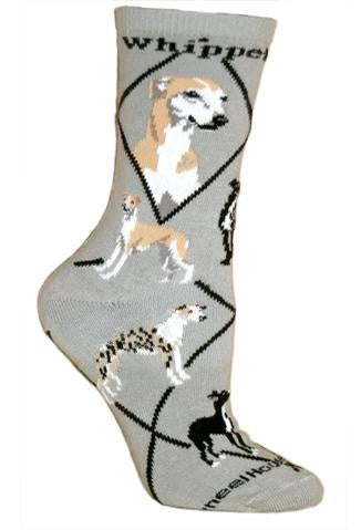 Whippet on Gray Sock Size 9-11