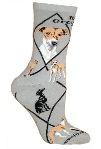 Greyhound, Italian on Gray Sock Size 10-13