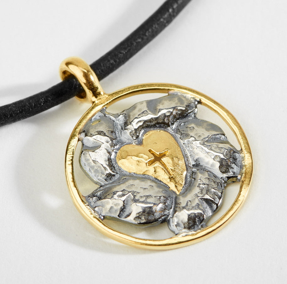 Luther Rose Silver & Gold Pendant