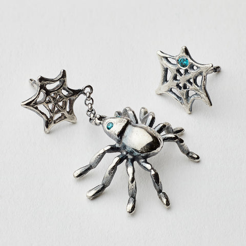 The Spider Silver Earring