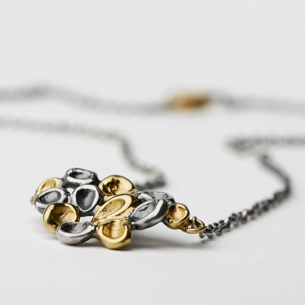 Erythrocyte Silver & Gold Necklace