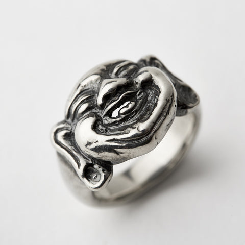 Laughing Buddha Silver Ring