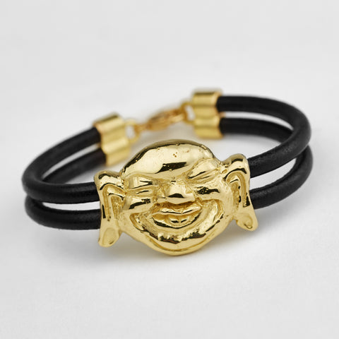 Laughing Buddha Gold Bracelet