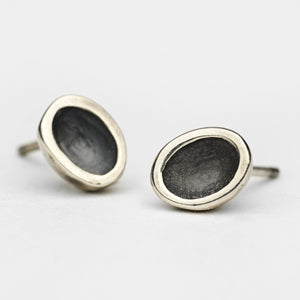 Crater Silver Earrings