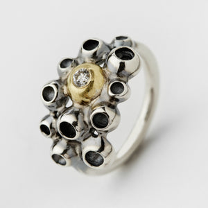 Barnacles Silver & Gold Ring