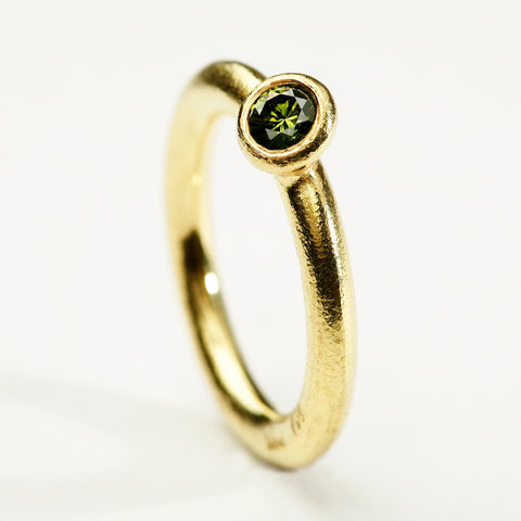 Olive Green Diamond Solitaire