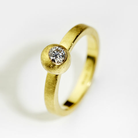 Chameleon White Diamond Gold Ring