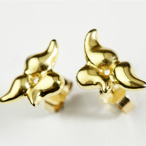 Cluster Gold Earrings