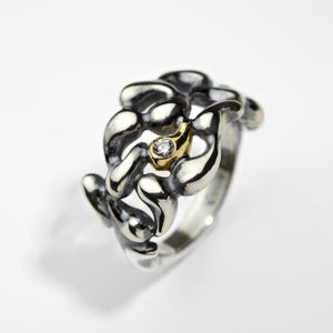 Cluster Golden Sprout Ring