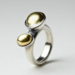 Crater Silver & Gold Ring