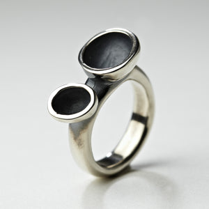 Crater Silver Ring