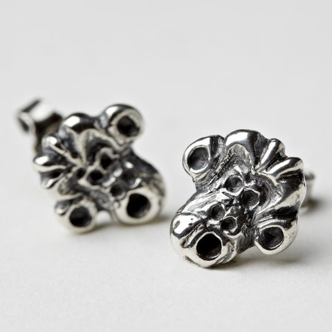 Crazy Monkey Silver Earrings