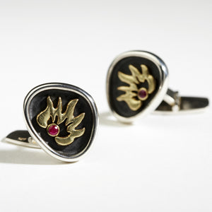 On Fire Cufflinks