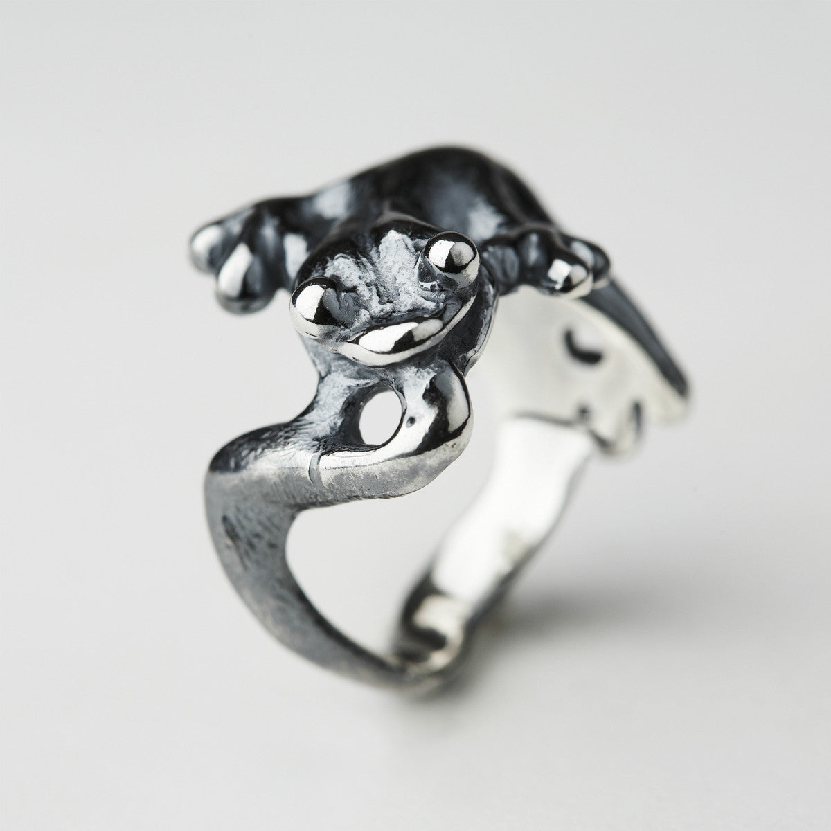 Gecko Silver Ring