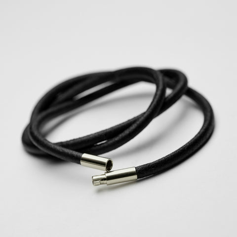 Leather necklace 3 mm silver lock