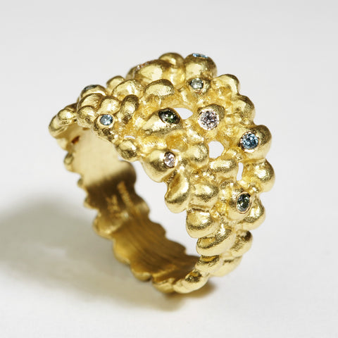 Molecule Gold Ring