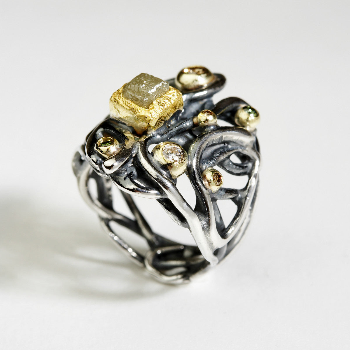 Plasma Silver & Gold Ring