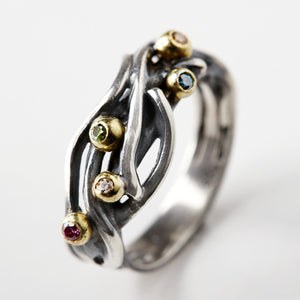 Seafruit Silver & Gold Ring