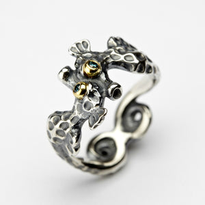 Seahorse Silver & Gold Ring