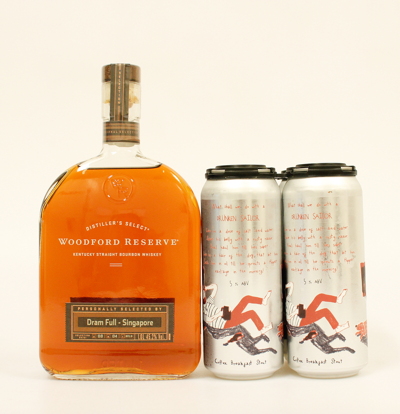 Woodford Reserve Personal Selection - Dram Full Singapore Edition x Sailors Grave Drunken Sailor Breakfast Stout