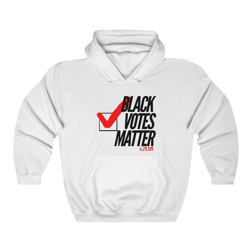 Black Votes Matter Check Hoodie