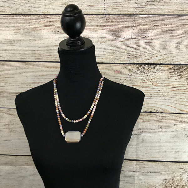 Stacey Double Strand Picasso Jasper Necklace