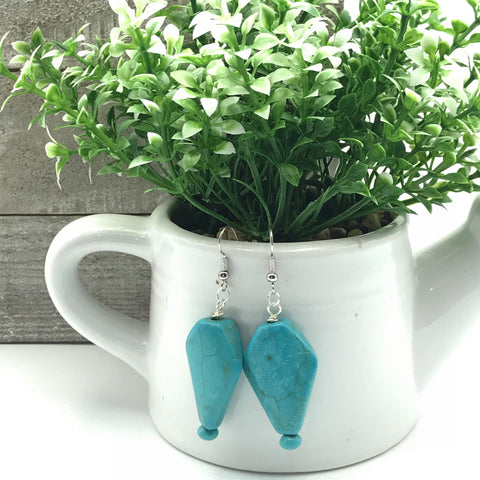 Tahnee Turquoise Howlite Earrings