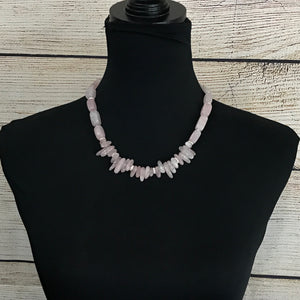 Chelsea Rose Quartz Beaded Necklace