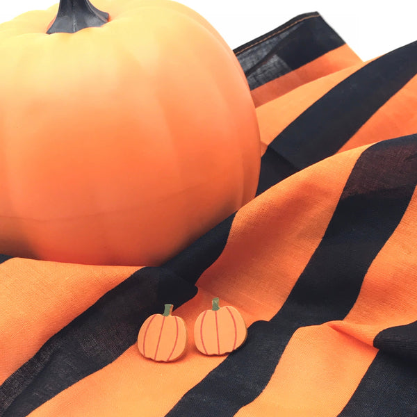 Orange Wooden Pumpkins