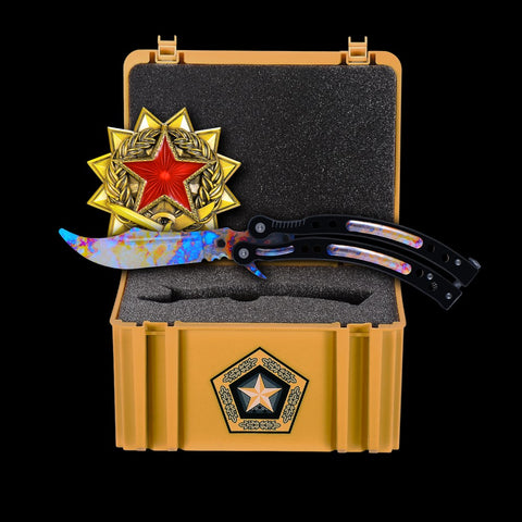 Case Hardened+Gamma Case+Medal