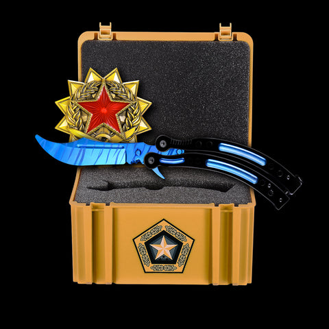 New Blue Steel+Gamma Case+Medal