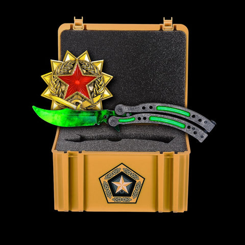 New Emerald+Gamma Case+Medal