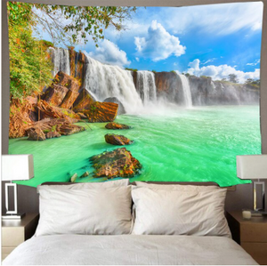 Beautiful Clear Waterfall Tapestry